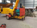 邢台小型果园枝条粉碎机-木片机一条龙生产线效果展示