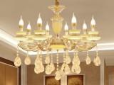 水晶吸顶灯 花形全铜吊灯