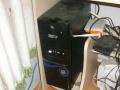双核主机23寸显示器 一米2电脑桌 电脑椅 音箱
