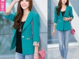 已出货2013女装秋季新款韩版修身大码休闲女士长袖小西装短外套