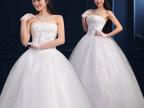 韩式婚纱2015春新款时尚齐地显瘦抹胸公主拖尾新娘礼服韩版夏632