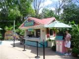 海南园林景区户外实木售卖车 饮料小吃售货亭 可移动手推车