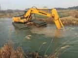 河道淤泥清理 水路兩用挖掘機出租 淤泥處理