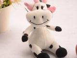一家亲奶牛  可爱小牛玩偶 毛绒玩具公仔 加工花牛公仔 厂家直销