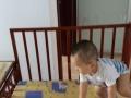 纯实木婴儿床
