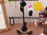 挂件架 玫瑰花项链架 吊坠饰品展示架 韩国毛衣链架  格子铺装修