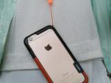 韩国 多彩边框 iphone6 PLUS双色撞色边框壳 精美挂绳