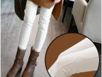 外穿女士白色打底裤 加绒加厚2014秋冬新款小脚铅笔裤长裤