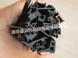 供应灰色加线+钢骨架密封条 PVC密封条 卡铁板用密封条
