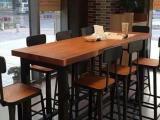 美式乡村酒吧桌椅咖啡厅桌椅吧台桌椅餐桌椅书桌椅
