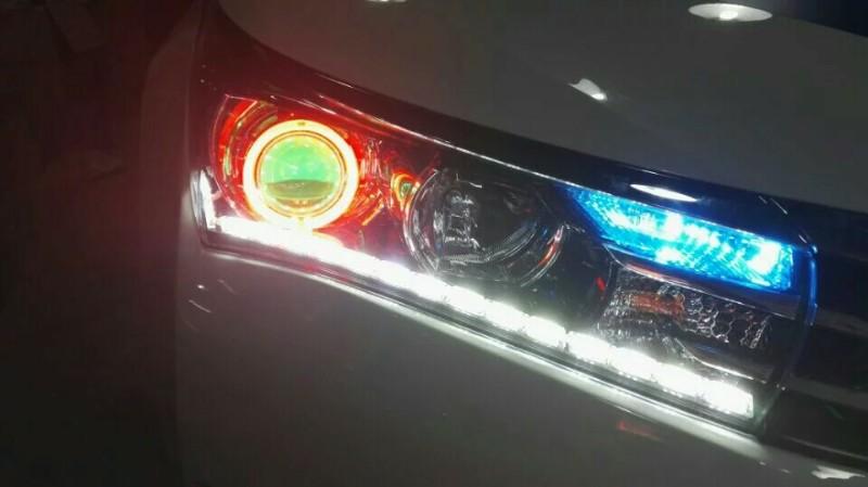 沧州汽车改灯大灯升级大灯改装加装透镜车一族改灯装具店高清图片