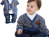 【babyrow】2014 童装春装 欧式开衫 全棉三件套 01