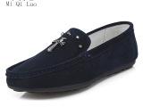 批发 男鞋豆豆鞋 反绒真皮单鞋男 英伦时尚低帮鞋韩式潮流懒人鞋
