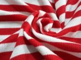 彩条罗纹 2 2罗纹色织条纹 针织面料 平均间210克 纬编螺纹