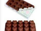 100% 硅胶巧克力模 硅胶心型巧克力模 食品级巧克力模