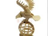 正品 雄鹰木制拼装模型 成人益智手工制作 摆设礼品仿真动物玩具