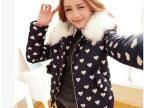 2014秋冬季新款女毛领棉衣棉袄短轻薄羽绒棉服批发 一件代发