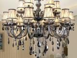 欧式简约灯饰灯具 双层烟灰色蜡烛水晶吊灯酒店别墅客厅灯水晶灯