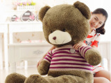 毛绒玩具厂家批发 大号复古泰迪熊公仔 穿衣刺猬熊 毛衣熊礼品