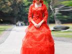 2015红言爆款新娘装高档红色韩版齐地抹胸婚纱时尚新娘结婚礼服
