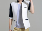 韩版男小西装 时尚男西服 男休闲品牌西装 男士修身七分袖小西装