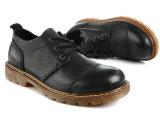 个性百搭潮流时尚真皮男鞋 布洛克风时尚低帮系带皮鞋
