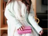 6020 韩国东大门春装新款开衫毛衣中长款宽松大码女羊绒针织衫