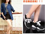 一件代发系带休闲运动低帮鞋N字鞋女韩版潮学生内增高女鞋阿甘鞋