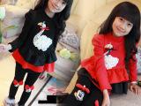 厂家直销2015春装童装品牌批新韩版女童蕾丝公主拉绒毛连衣裙可代