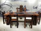 老船木茶台茶桌椅古典茶桌泡茶台电脑桌办公桌老板桌实木家具定制