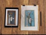 麋鹿戴维壁挂时钟 创意款家居客厅背景墙树脂装饰挂钩