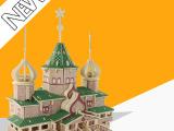俄罗斯圣诞DIY大木屋手工建筑模型|益智开发动手能力玩具厂家批发