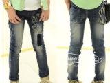童装批发2014春秋款韩版儿童牛仔裤长裤子 童装厂家直批