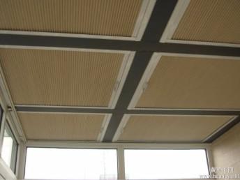 南汇区定做阳光房遮阳窗帘蜂巢帘电动天棚帘