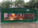 南京中盛专业定做推拉篷 雨篷 伸缩推拉篷 仓库帐篷