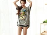 外贸女装t恤 宽松大码不规则夏季新款 韩国短袖t恤女装批发 83