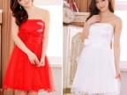 3315甜美新款网纱礼服连衣裙婚礼抹胸小礼服大码伴娘服姐妹裙