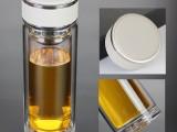 双层便携水杯大容量耐热家用泡茶杯子过滤定制印字logo