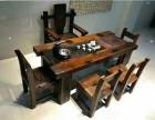 出售实木仿古功夫茶几船木茶桌椅组合老船木中式茶台茶艺桌