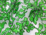 厂家定制 欧根纱网底数码印花蕾丝面料花边 人棉线软纱服装辅料