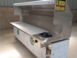 上海政润环保油烟净化器商用大型木炭可移动环保烧烤车烧烤炉