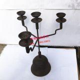 田园民族四个头油灯仿古铸铁装饰烛台中式古典做旧茶艺桌烛台