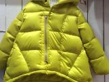 2014冬季韩版童装羽绒棉服时尚纯色连帽A字形斗篷中小童女童外套