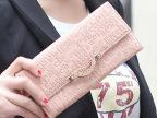 女士长款钱包字母压花女式长款可手提单肩女士钱包 银包皮夹