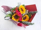 昆明鲜花速递向日葵花束生日礼物送母亲同事爱人师长女友六号花铺