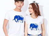 韩版 新款母女亲子装青花瓷装休闲情侣 童装套装批发代理一件代发