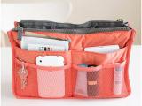 酷蒙 包中包收纳包 多功能化妆包 双拉链收纳包 韩式整理袋