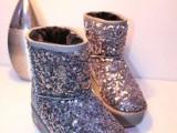 亮片雪地靴女冬季新款厚底保暖雪地靴 棉鞋 平底短靴子 女 201