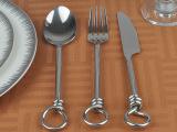 欧式不锈钢刀叉勺三件套装可单买酒店样板房装饰摆件软装混批批发