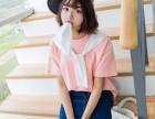 女装夏季学院风围巾款短袖T恤厂家直销可上门考察